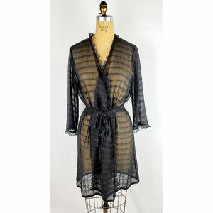 Oscar de la Renta Pink Label Sheer Robe
